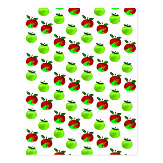 Red and Green apples swatch pattern Post Cards