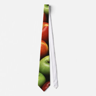 Red and Green Apples Tie