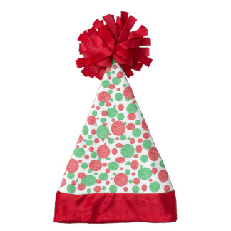 Red and Green Bubbles Santa Hat