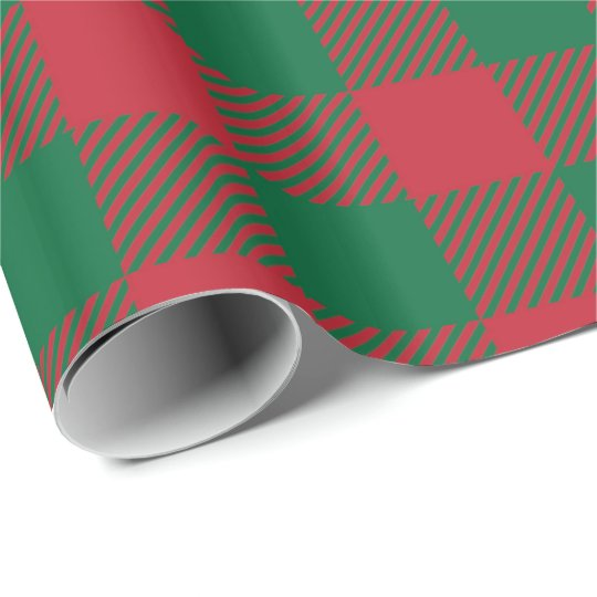 Red and Green Buffalo Plaid Wrapping Paper