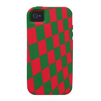 Red and Green Checked iPhone4  Case iPhone 4 Case