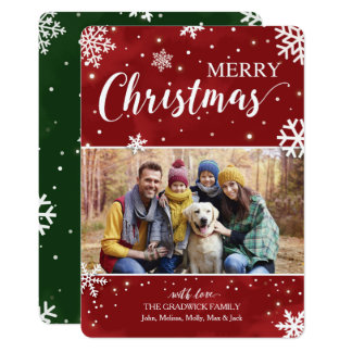 Red and Green Christmas Card