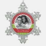 Red and Green Christmas Custom Photo