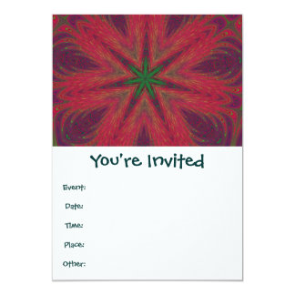 Red and Green Christmas Mandala 13 Cm X 18 Cm Invitation Card