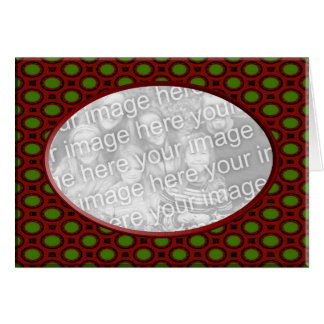 Red and Green Christmas Photo Frame Greeting Card