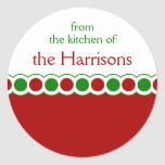 Red and Green Christmas Polka Dot Stickers
