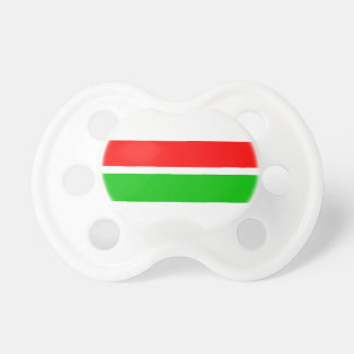 Red and Green Christmas Stripes Baby Pacifiers