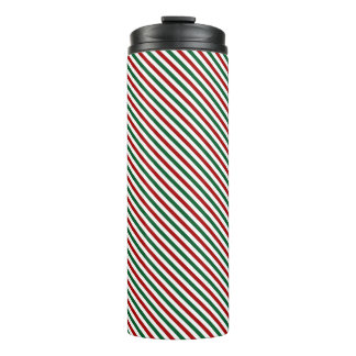 Red and Green Christmas Thermal Tumbler