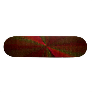 Red and Green Circular Patchwork Array 20 Cm Skateboard Deck