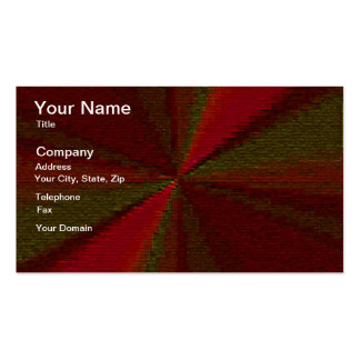 Red and Green Circular Patchwork Array Business Card