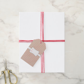 Red and Green Crosshatch Gift Tags