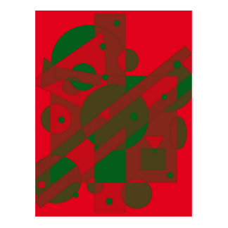 Red and green design by Moma Postcard