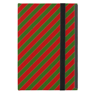Red and Green Diagonal Stripes Case For iPad Mini