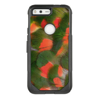 Red And Green Feather Pattern OtterBox Commuter Google Pixel Case