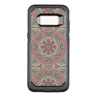 Red and green floral Mandala Design OtterBox Commuter Samsung Galaxy S8 Case