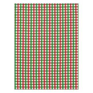 Red and Green Gingham Pattern Tablecloth