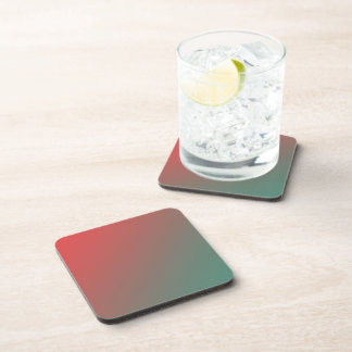 Red and Green Gradient Beverage Coasters