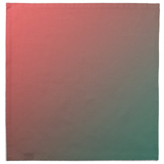 Red and Green Gradient Printed Napkins