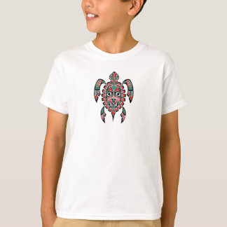 Red and Green Haida Spirit Sea Turtle T-Shirt