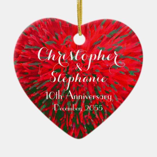 Red and Green Heart Anniversary Christmas Holiday Christmas