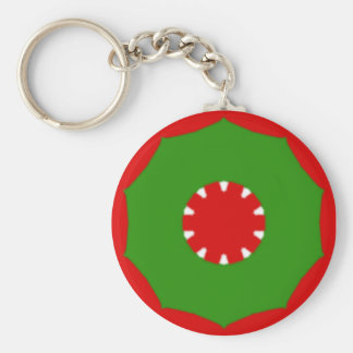 Red and Green Keychain