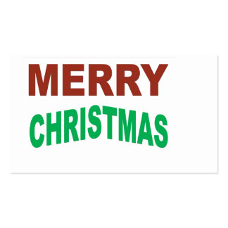 Red And Green Merry Christmas Text Pack Of Standard Business Cards