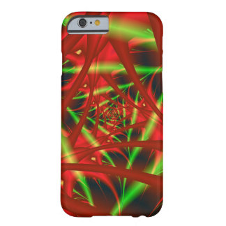 Red and Green Neural Network Spiral Barely There iPhone 6 Case