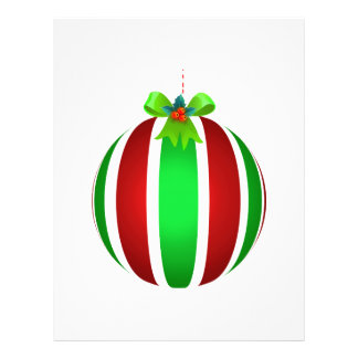 Red And Green Ornament w/Green Bow Custom Flyer
