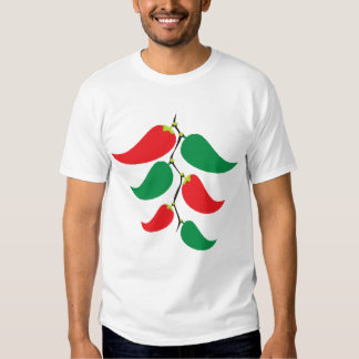 Red and Green Pepper Graphic on a string Shirts