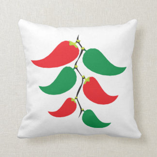 Red and Green Pepper Graphic on a string Throw Cushion
