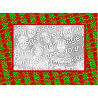 Red and Green Photo Frame Standing Photo Sculpture