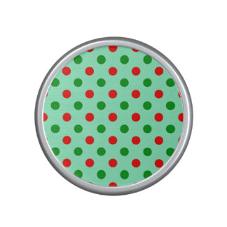 Red and Green Polka Dots Bluetooth Speaker