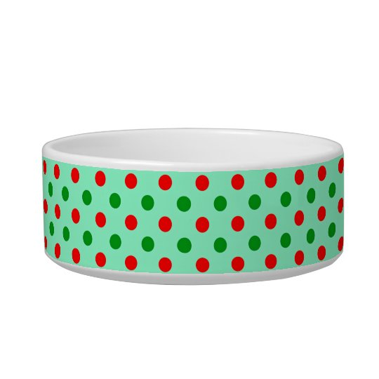 Red and Green Polka Dots Bowl