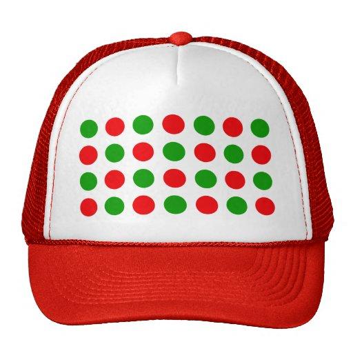 Red and Green Polka Dots Hats