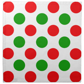 Red and Green Polka Dots Napkin