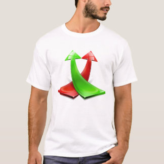 Red and green positive arrows T-Shirt
