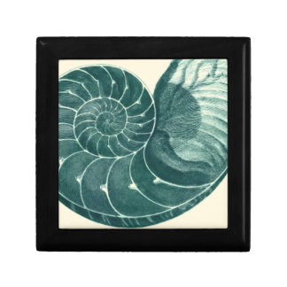 Red and Green Seashell Art Gift Box