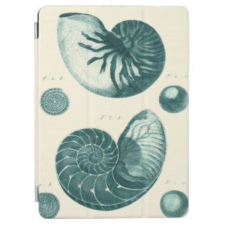 Red and Green Seashell Art iPad Air Cover