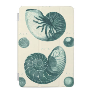 Red and Green Seashell Art iPad Mini Cover