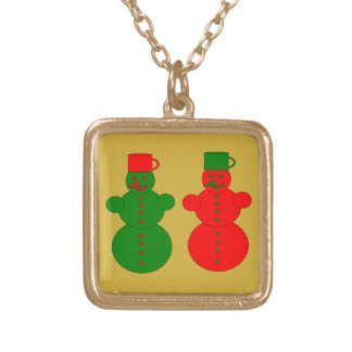 Red and green snowmen jewelry