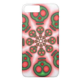 Red and Green Spooky Skulls iPhone 7 Plus Case