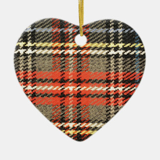 Red and Green Tartan Christmas Ornament