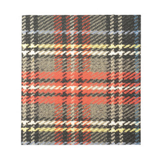 Red and Green Tartan Notepad