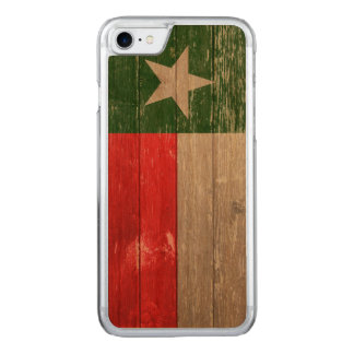 Red and Green Texas Flag Painted Old Wood Carved iPhone 8/7 Case