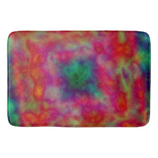 Red And Green Tie Dye Bath Mat