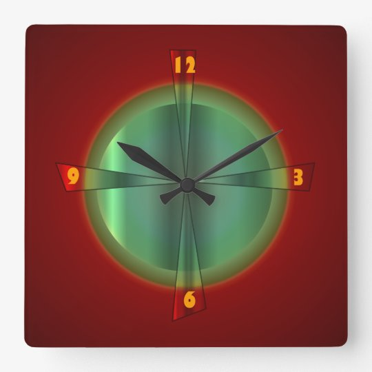 Red and Green with Iluminated Effect >Wall Clock