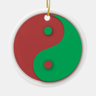 Red and Green Yin and Yang ornament