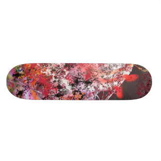 Red and Grey Abstract No.4 Skateboard