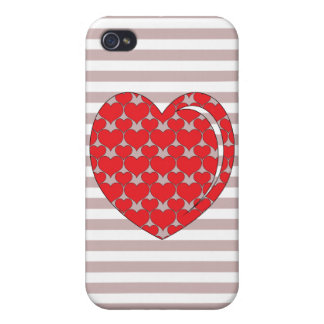RED AND GREY HEART iPhone 4/4S COVERS