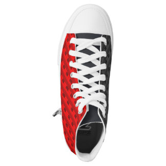 Red and Grey Plaid New Trend High Tops